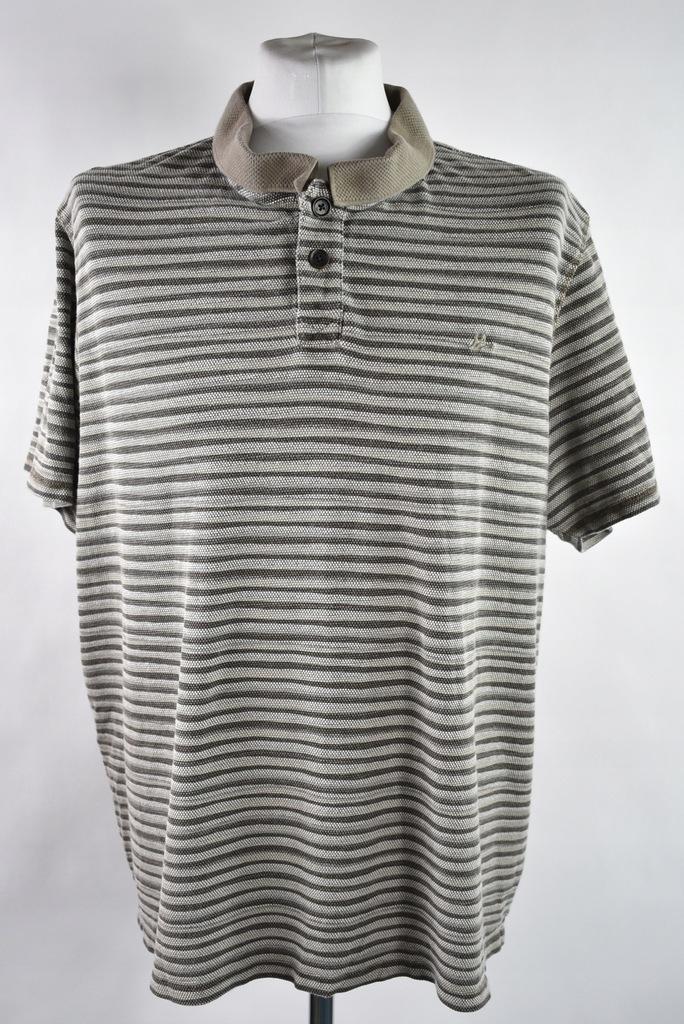 MANTARAY bezowe paski polo koszulka r.XXL