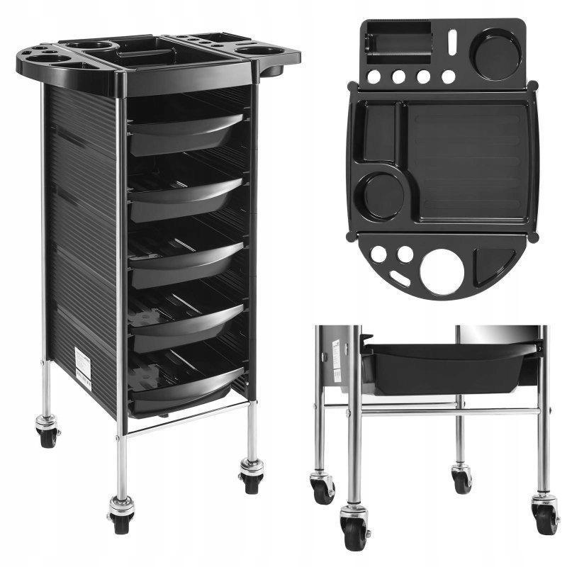 Wózek fryzjerski wys. 90cm 5 szuflad PHYSA RR-6