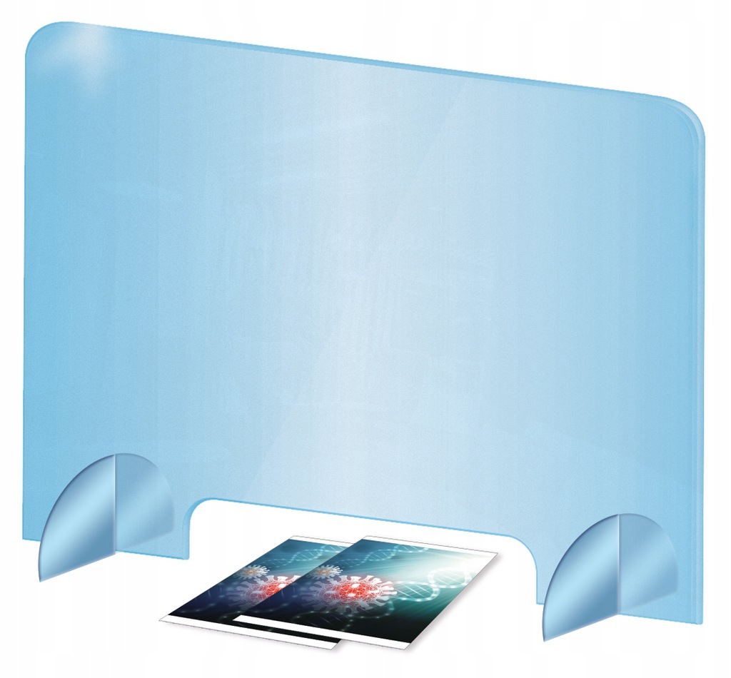 OUTLET osłona z plexi ochronna 90x60 cm na biurko