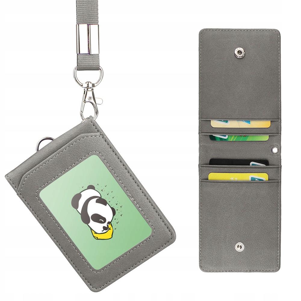 ETUI identyfikatory karty okładka przepustki smycz