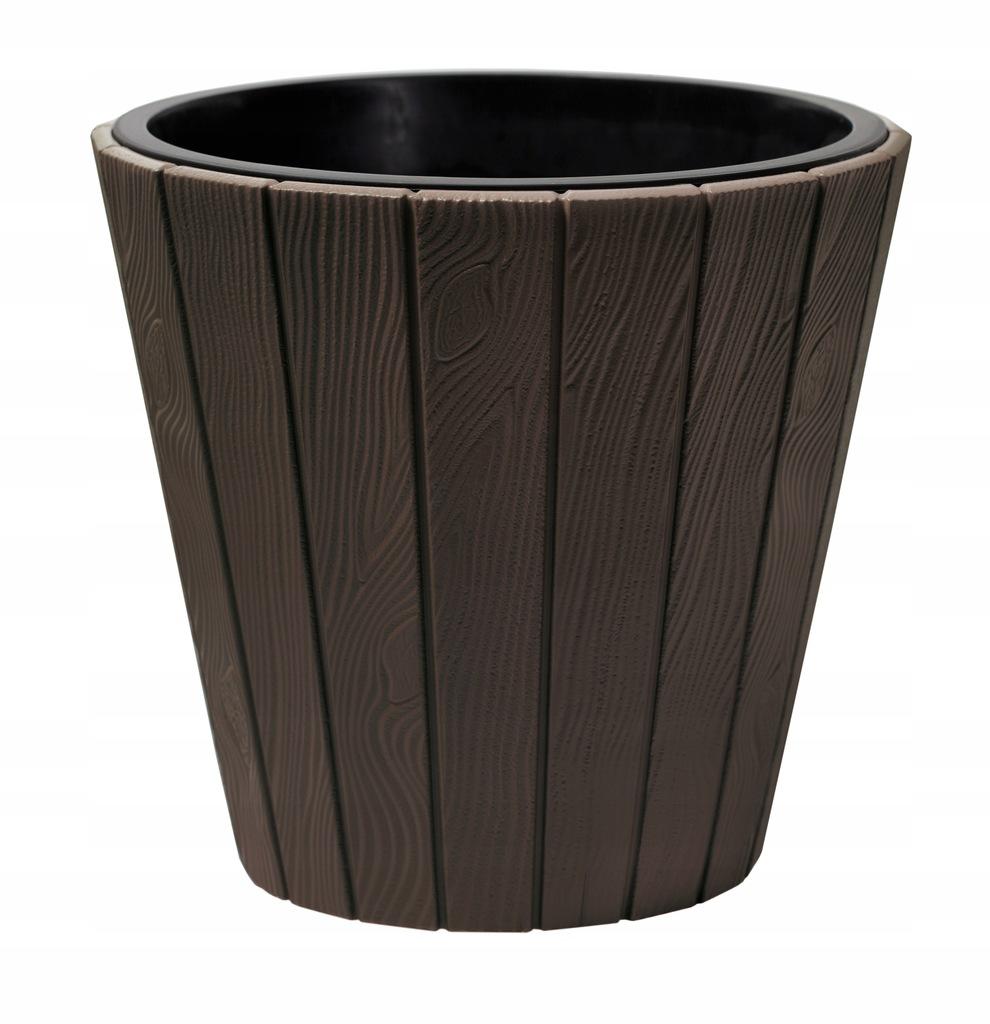 Doniczka jak drewniana DBWO400 + wkład 38xh37cm