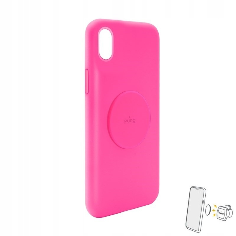 PURO ICON+ Cover - Etui magnetyczne iPhone XR (flu
