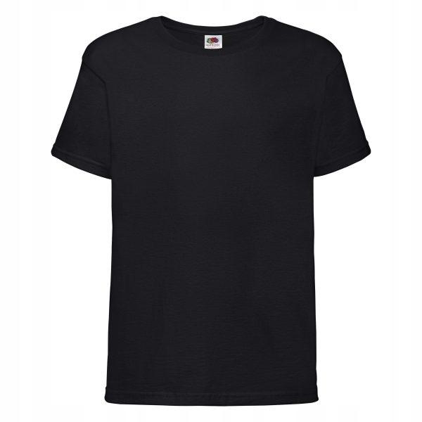 Koszulka męska FRUIT OF THE LOOM Sofspun czarna L