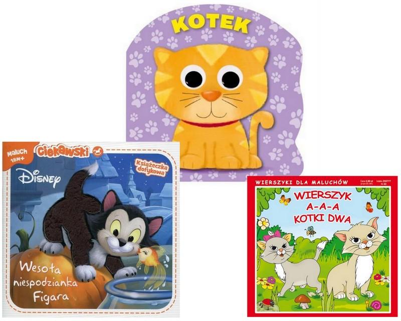 Kotek Koty Książka Sensoryczna Dotykowa Kotki Kota