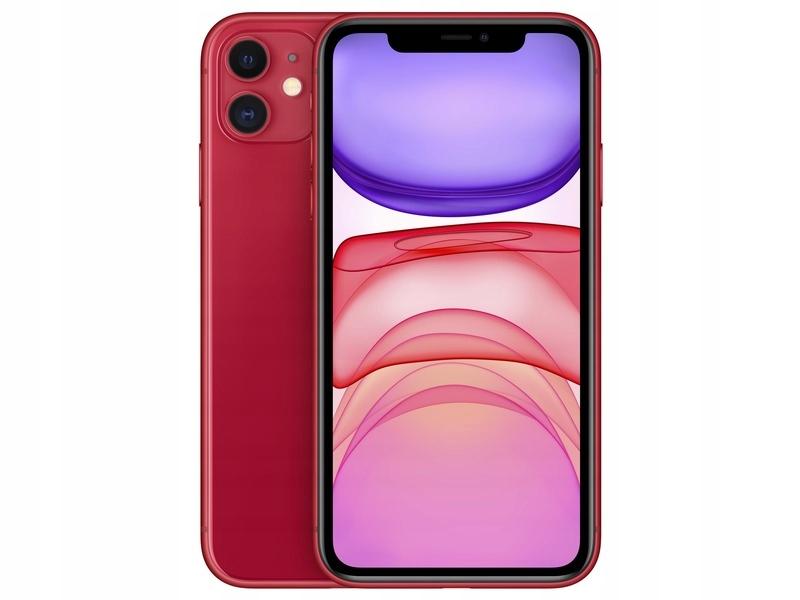 Czerwony Smartfon APPLE iPhone 11 64GB IP68 IOS 13