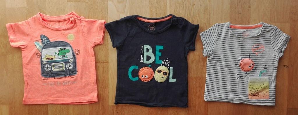 T-shirty chłopięce C&A 74 3 szt.