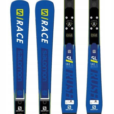 Narty SALOMON SRACE RUSH SL + Race Plat 160 cm