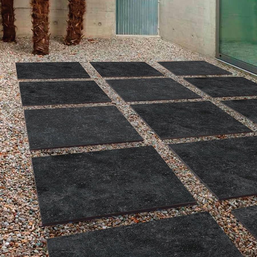 Płytki geresowe tarasowe Benelux Black 60x60x2 cm