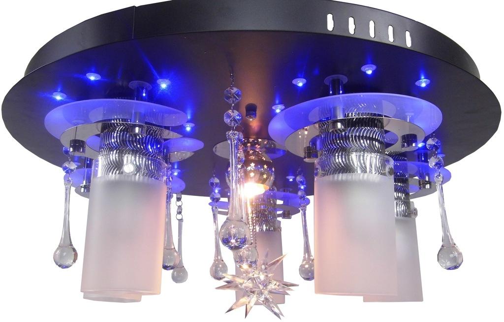 PLAFON KRYSZTAŁOWY LED ŻYRANDOL 55 cm FILM LAMPA!