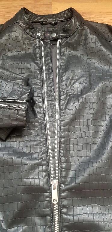 kurtka skórzana zara męska l bomber krokodyla