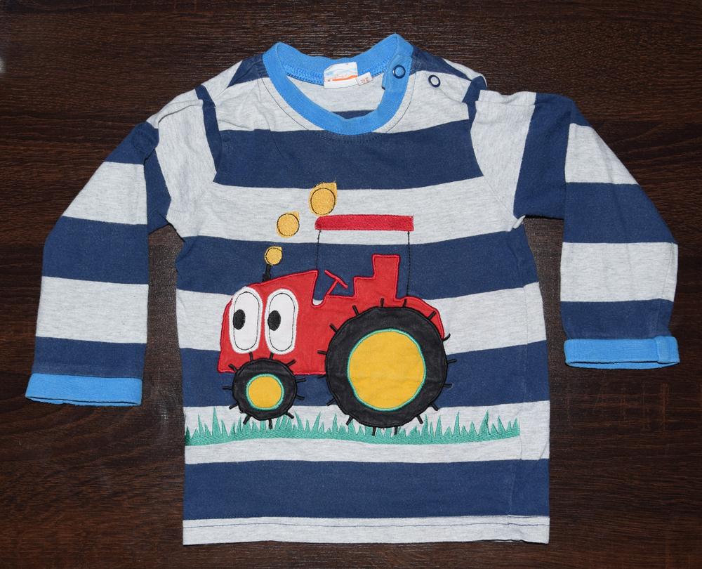 Koszulka z traktorkiem Bluezoo baby 9-12 miesięcy