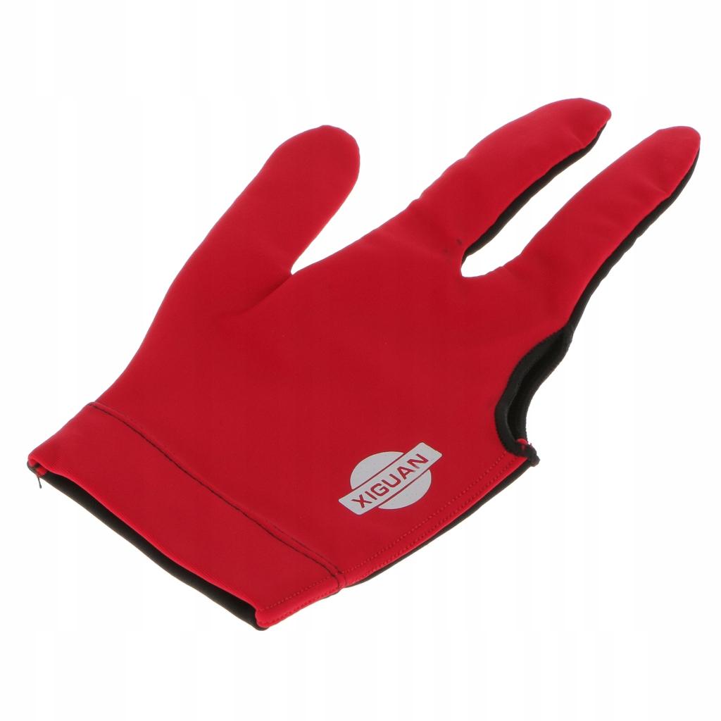 1 sztuka rękawicy do snookera - Czerwony