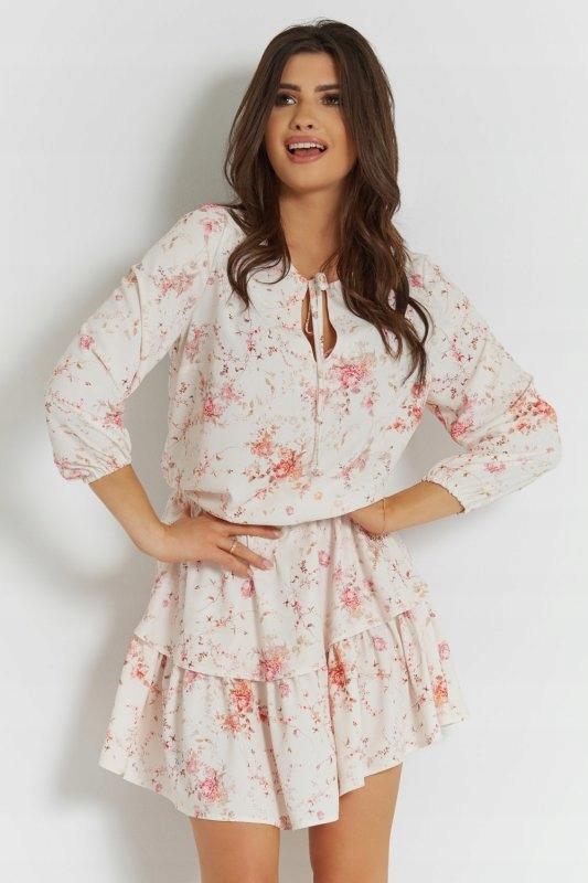 Sukienka szyfonowa Chloe - Biała - StreetS - 34