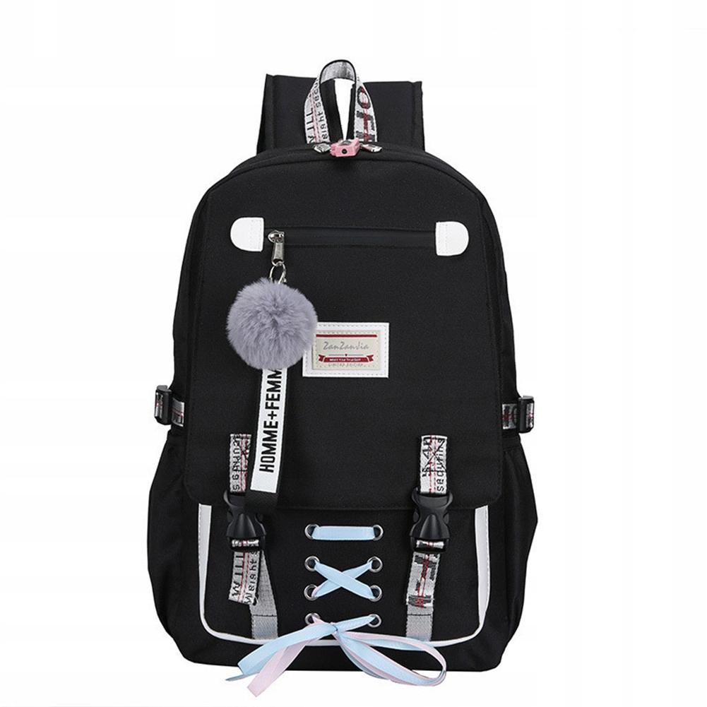 Plecak Szkolny Do Szkoly Dla Dziewczyny Usb Czarny 8461125091 Oficjalne Archiwum Allegro