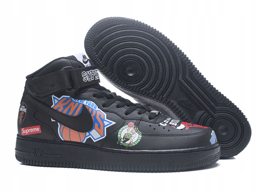 Buty Nike Air Force 1 Mid Supreme Nba Black R 43 8717590729 Oficjalne Archiwum Allegro