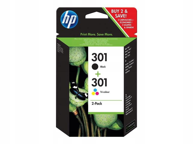 HP Tusz 301 2-pack oryginał N9J72AE
