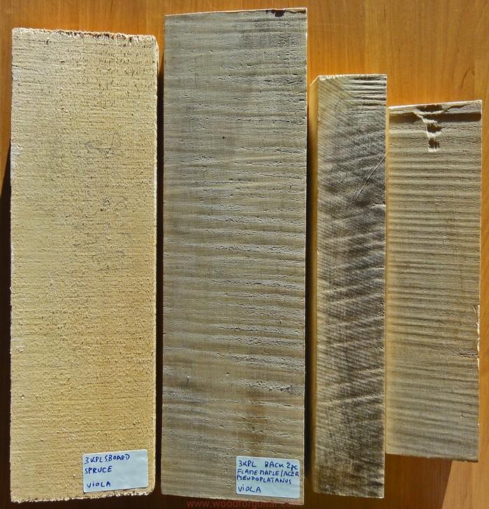 Drewno rezonansowe na altówkę SET JAWOR i ŚWIERK
