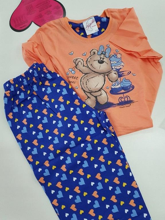 Piżama na lato dla dziewczynki 7-8 lat