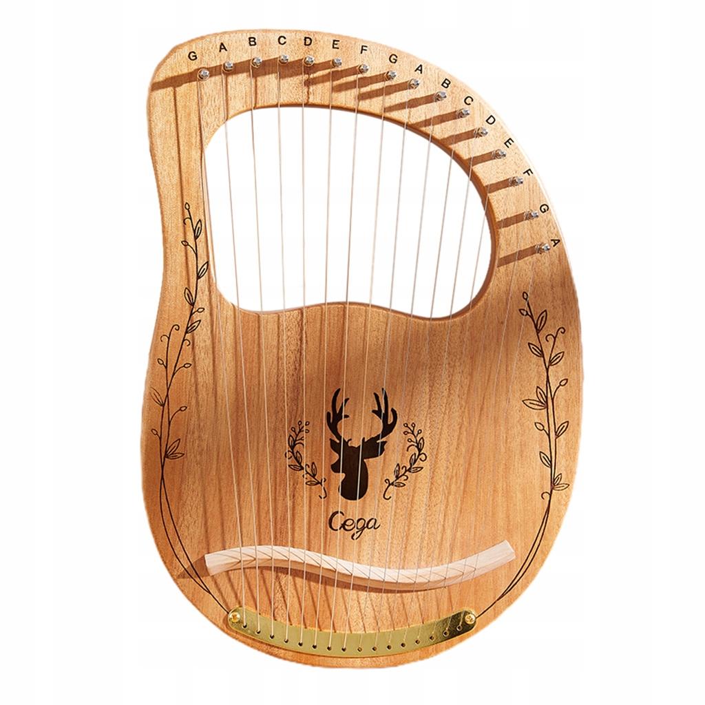 Lyre harp 16 struny - Drewna