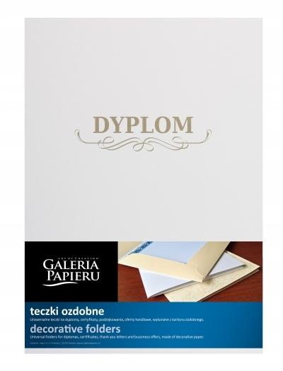 Teczka ozdobna Milenium z napisem Dyplom diamentow