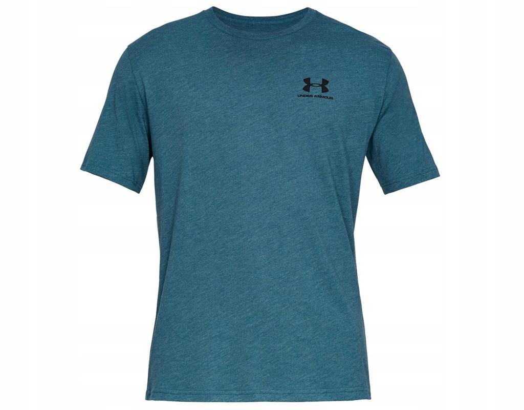 Koszulka Under Armour Left Chest Niebieska L
