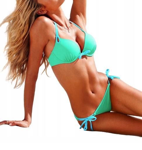 bikini PUSH UP STRÓJ KĄPIELOWY sph6 L zielony
