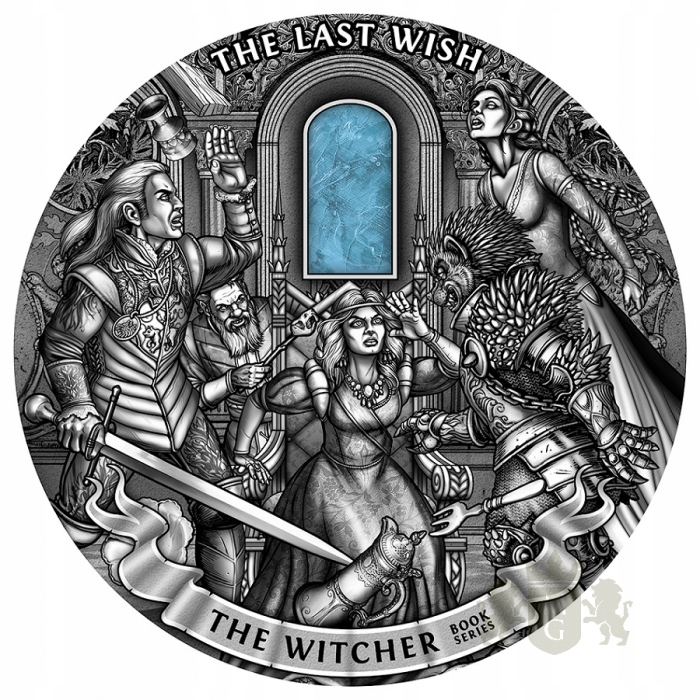 Pamiątkowa moneta 50$ OSTATNIE ŻYCZENIE - WIEDŹMIN