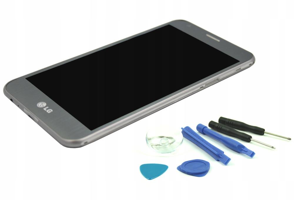 LCD DOTYK LG X CAM K580 DIGITIZER SREBRNY RAMKA