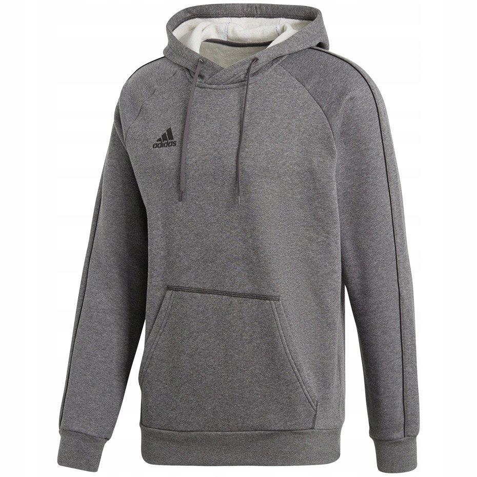 Bluza męska adidas Core 18 Hoody szara CV3327