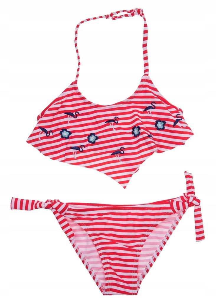 Kostium strój kąpielowy plażowy bikini 98/104 cm
