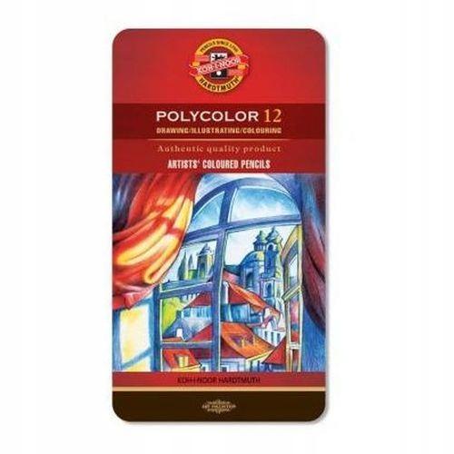 Kredki Polycolor 12kol metalowa kasetka Koh-I-Noor