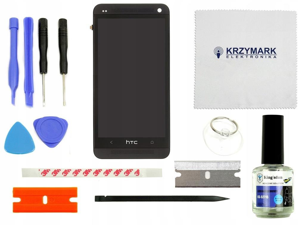ORYGINALNY WYŚWIETLACZ LCD RAMKA SZYBKA DO HTC M7