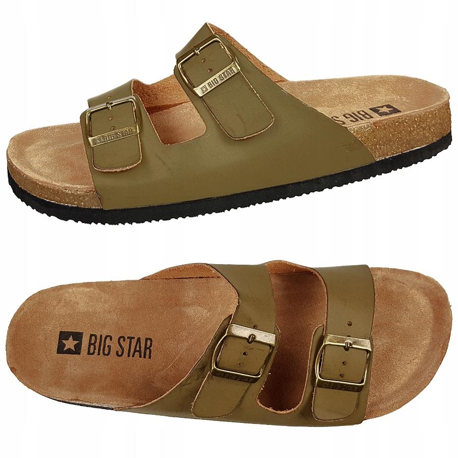 Klapki Big Star męskie zielone khaki DD174607 44
