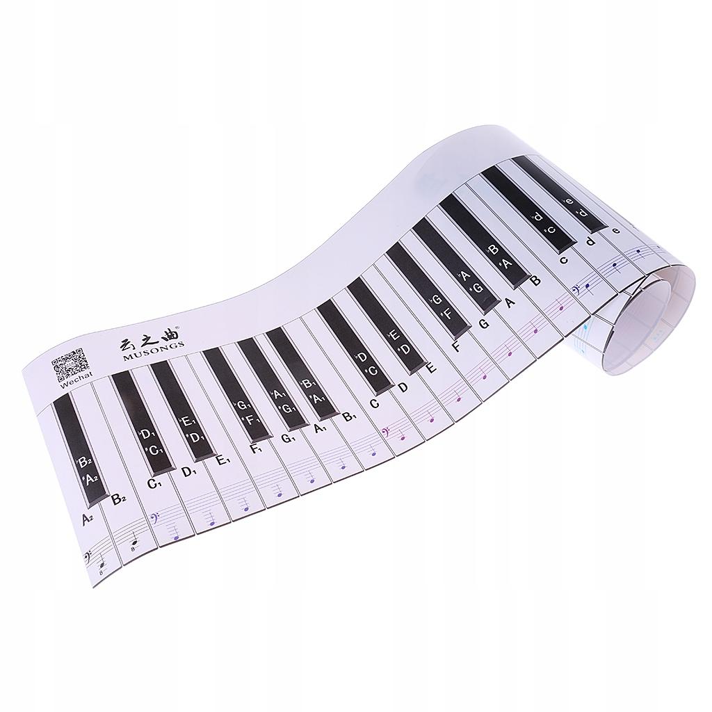 88-klawiszowa naklejka na klawiaturę