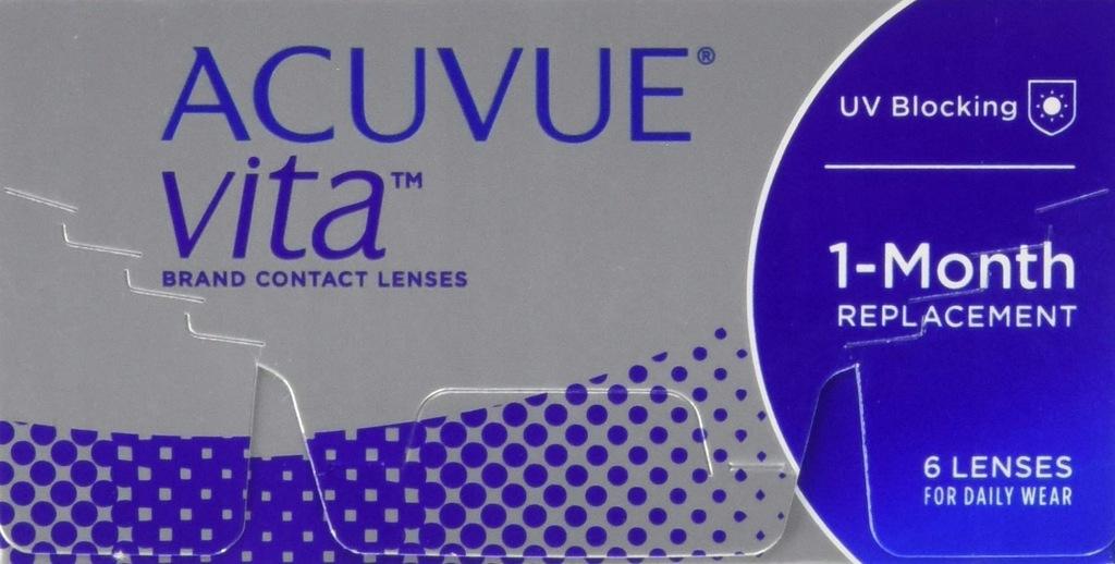 Miesięczne soczewki ACUVUE Vita -6 dpt 6 sztuk