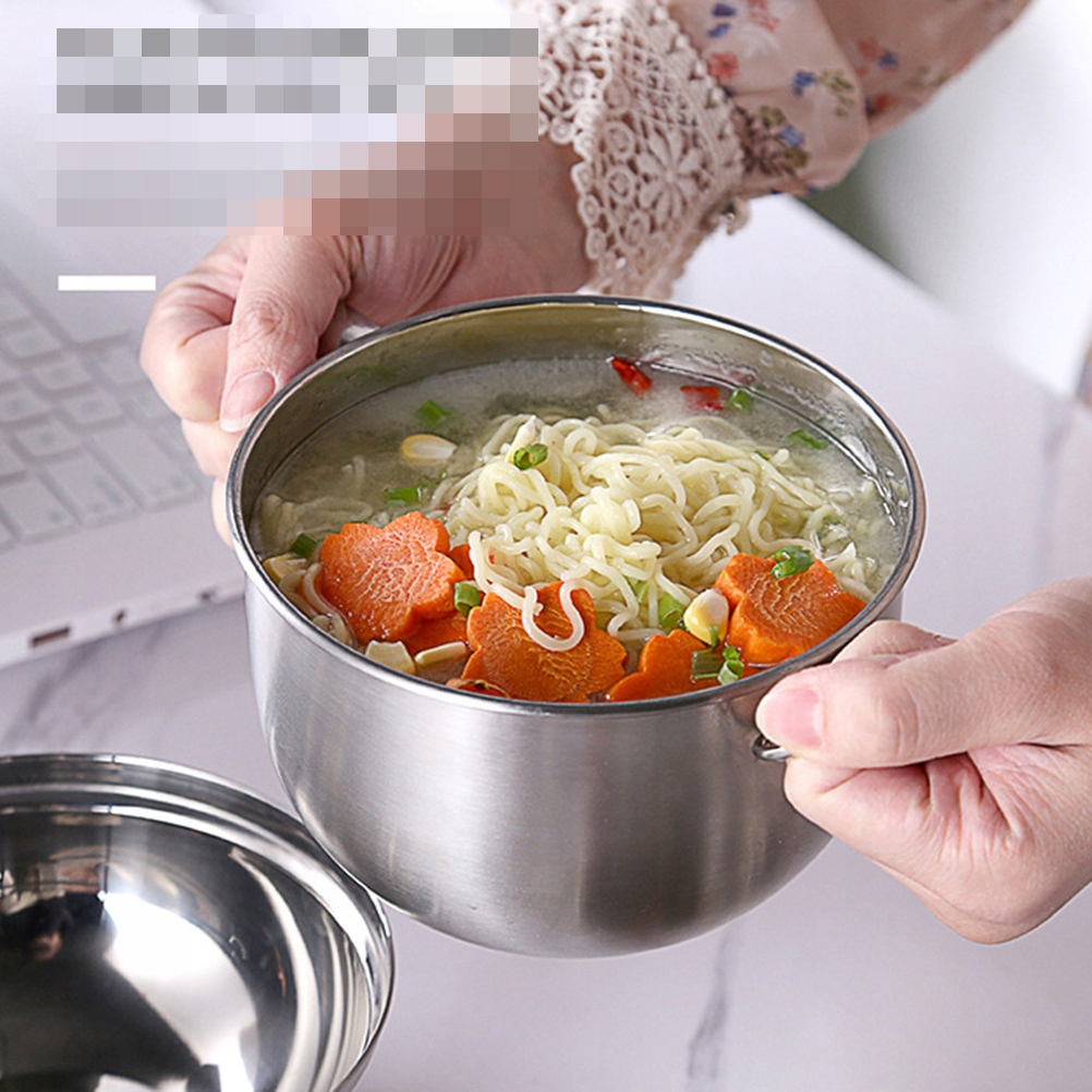 1PC Stainless Steel Noodle Bowl Thicken Lunch Box