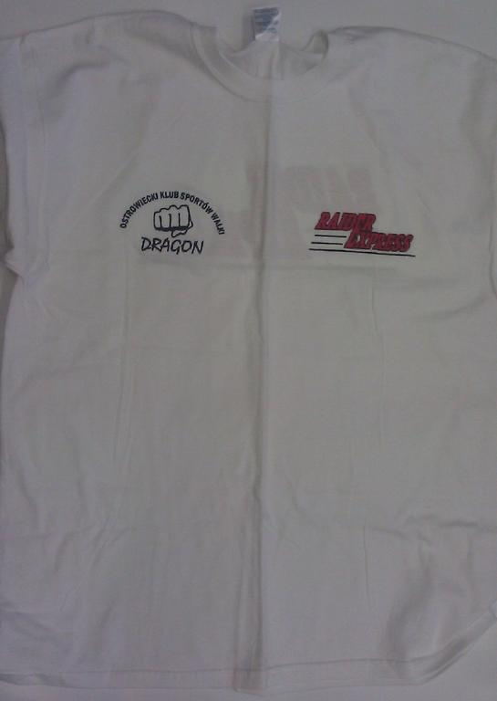 Dragon t-shirt -  męski rozmiar XL biały