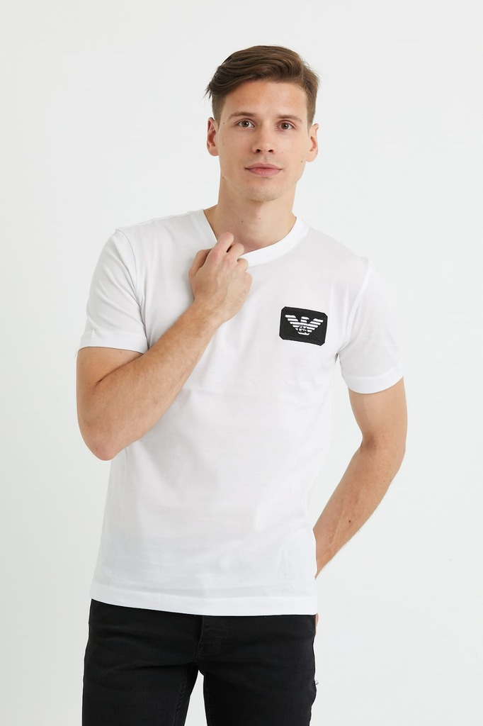 T-shirt Męski Emporio Armani Biały r. L