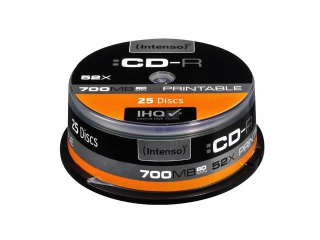 CD-R Intenso 700MB PRINTABLE (25 CAKE)