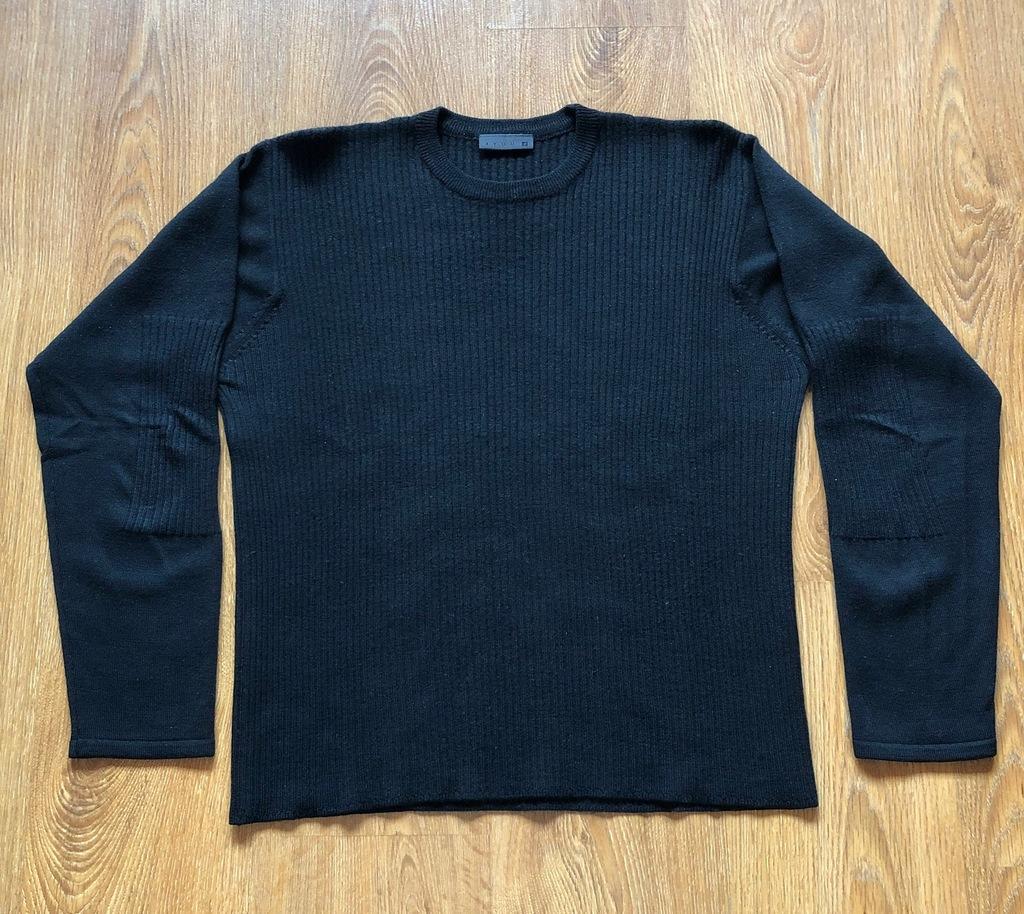 Czarny sweter 4 YOU wełna XL klasyka