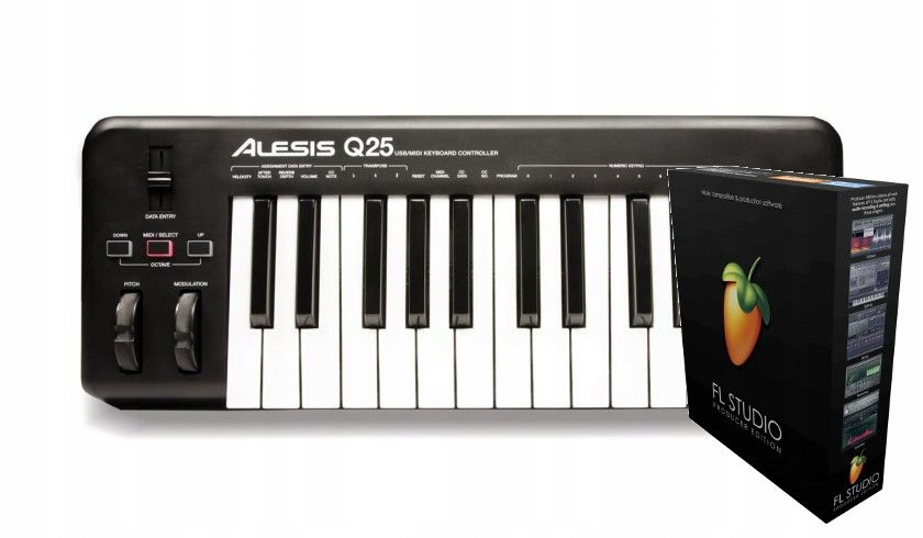 Alesis Q25 + FL Studio 20 Producer Edition BOX