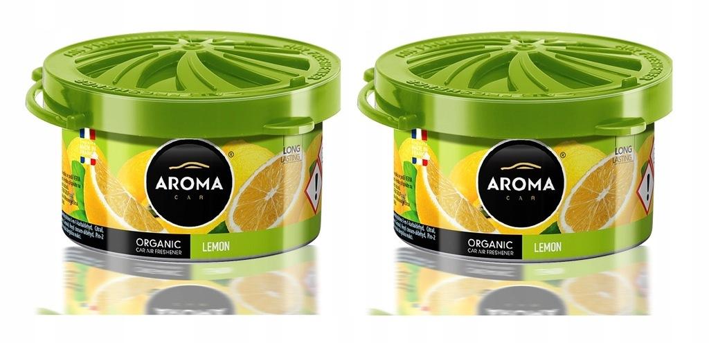 Zapach samochodowy ORGANIC AromaCar LEMON 2 szt.