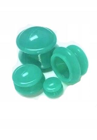 Bańki chińskie silikonowe zielone – zestaw 4 szt
