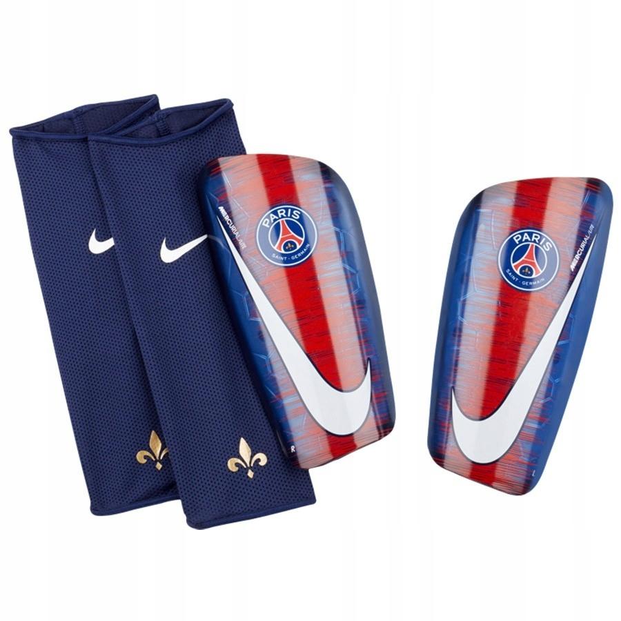 Nagolenniki Nike PSG SP2134 421 niebieski xl