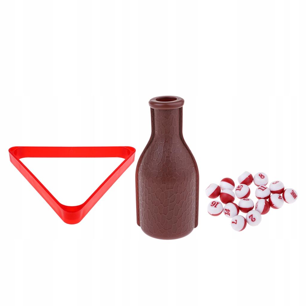 Stojak na trójkątne kule bilardowe - Czerwony