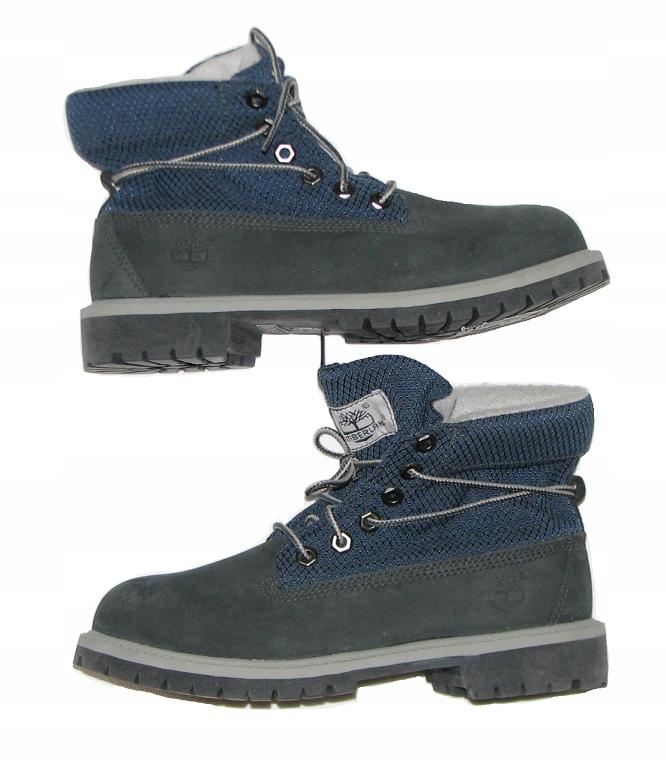 Timberland Boys skórzane buty wysokie jak Nowe 35