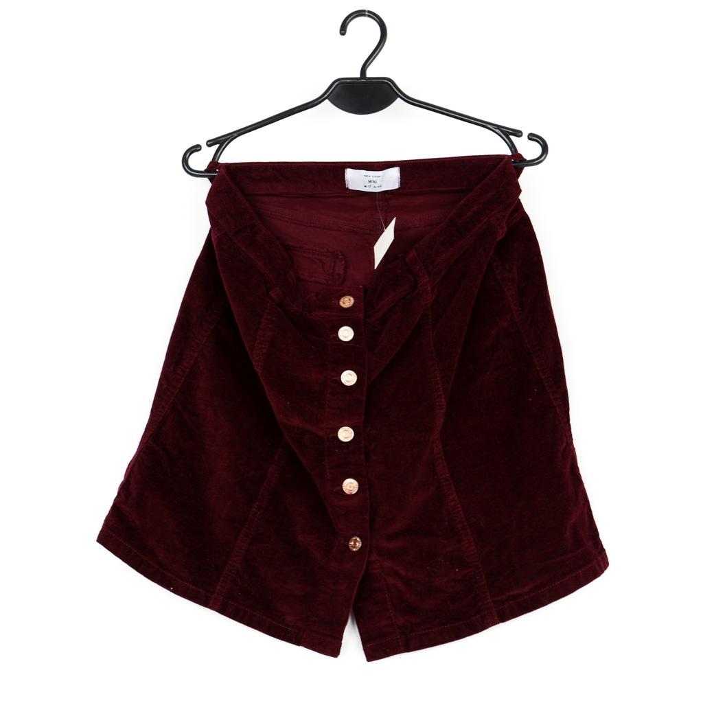Spódnica damska bordowa NEW LOOK r.40