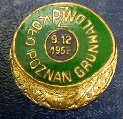Odznaka wędkarska PZW Poznań Grunwald 1952