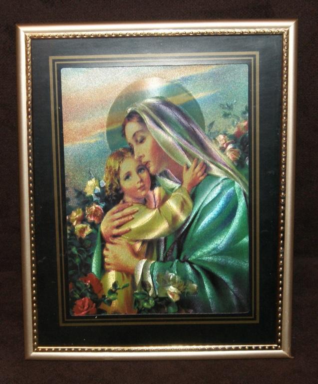 Laserowy obraz 3D, Matka Boska,Maria, Madonna