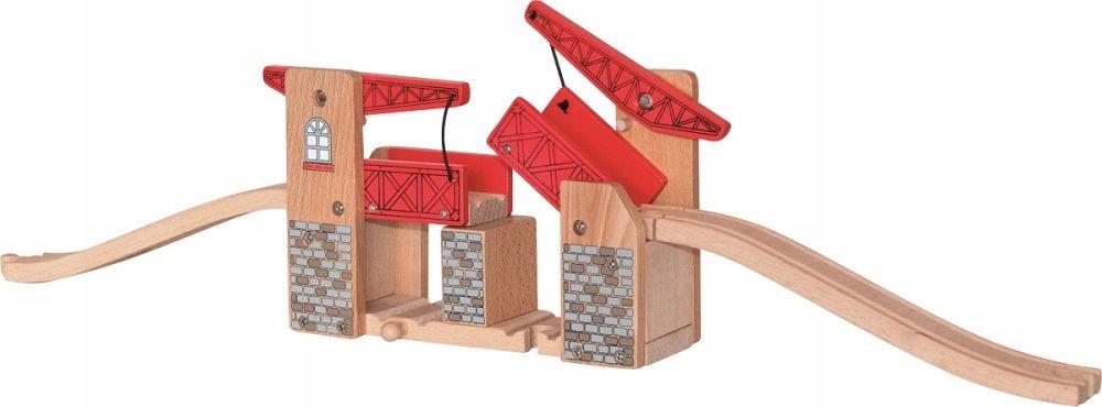 Zabawki dla dzieci Most podwójny wznoszony drewno